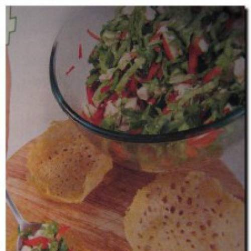 Сырные корзиночки или салат в сырных корзиночках.