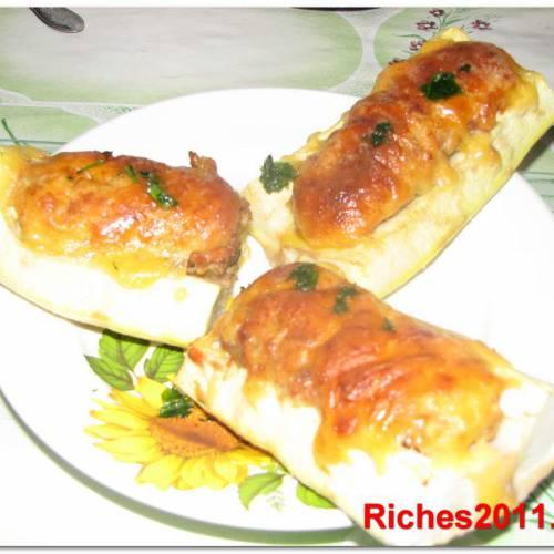 Рецепт фаршированных кабачков в духовке или «лодочки» из кабачков.