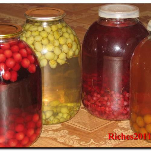 Как варить на зиму компот из свежих фруктов и ягод.