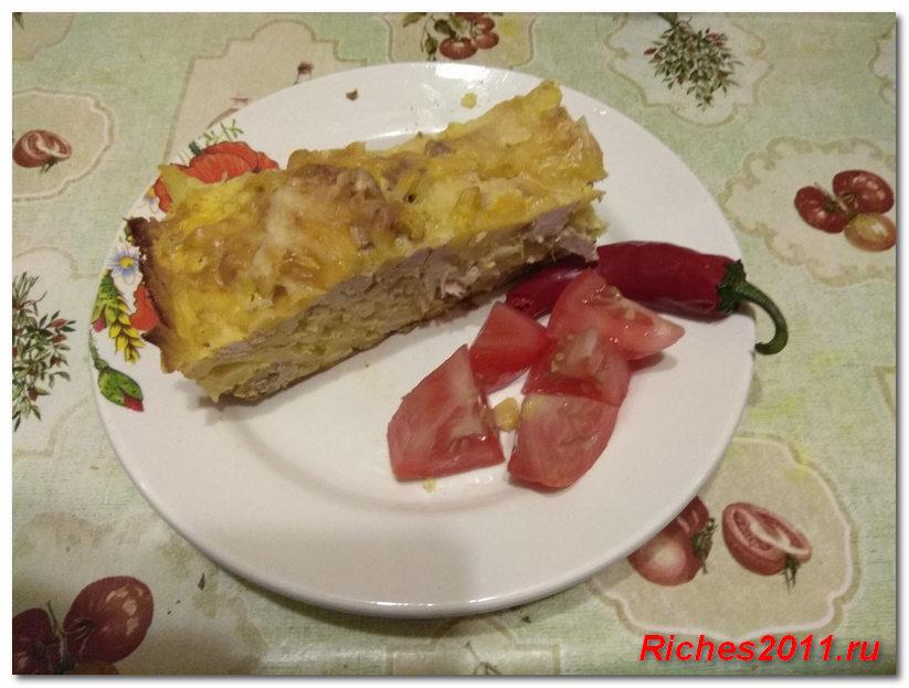 Блюдо из картофеля и мяса — просто и вкусно.